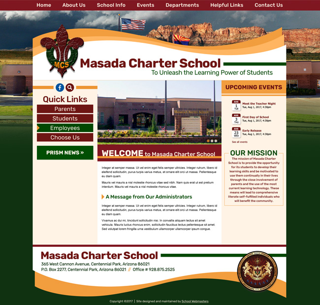 Middle School Website Template: Wilcox Middle School