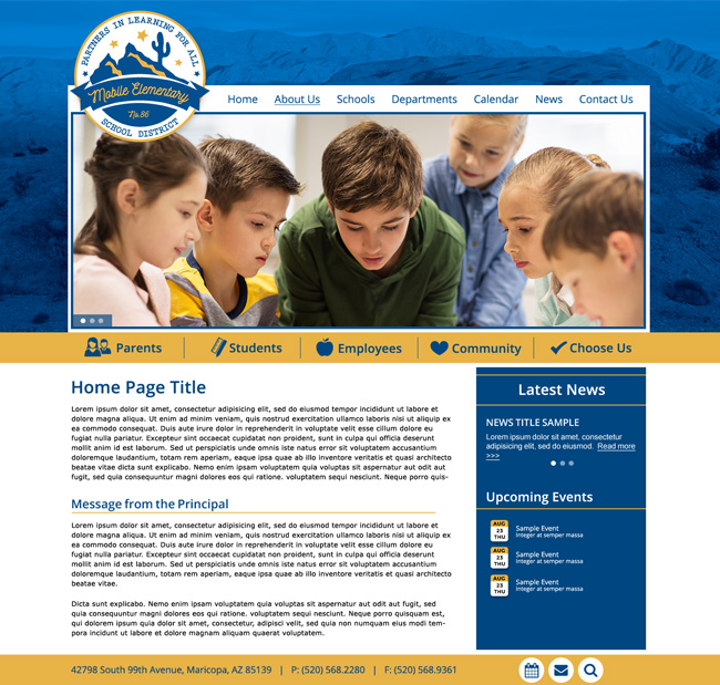 District Template Website: Mobile ESD