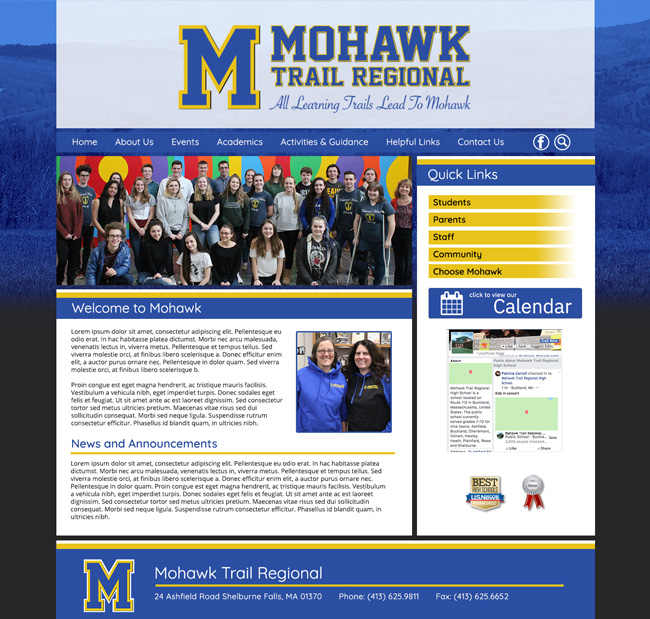 High School Template Website: Mohawk High School