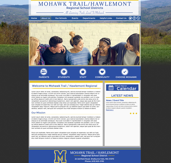 District School Website: Mohawk Trail and Hawlemont Regional School Districts
