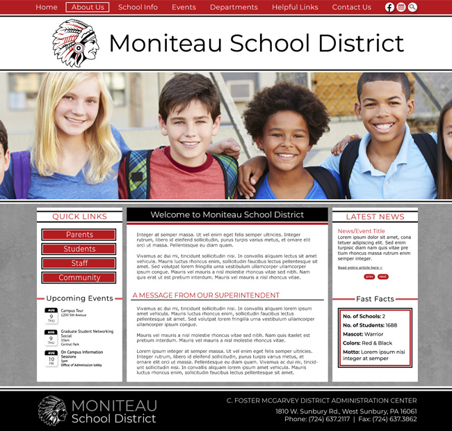 Website Template for Moniteau School District