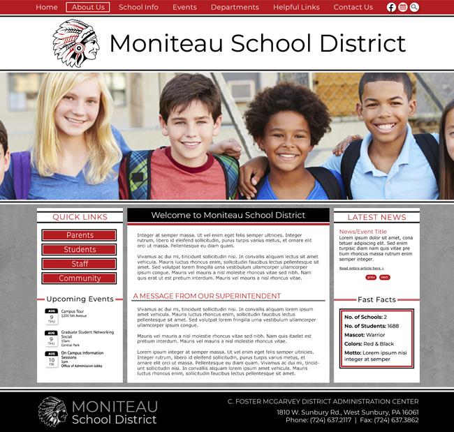 Website Template for Moniteau School District