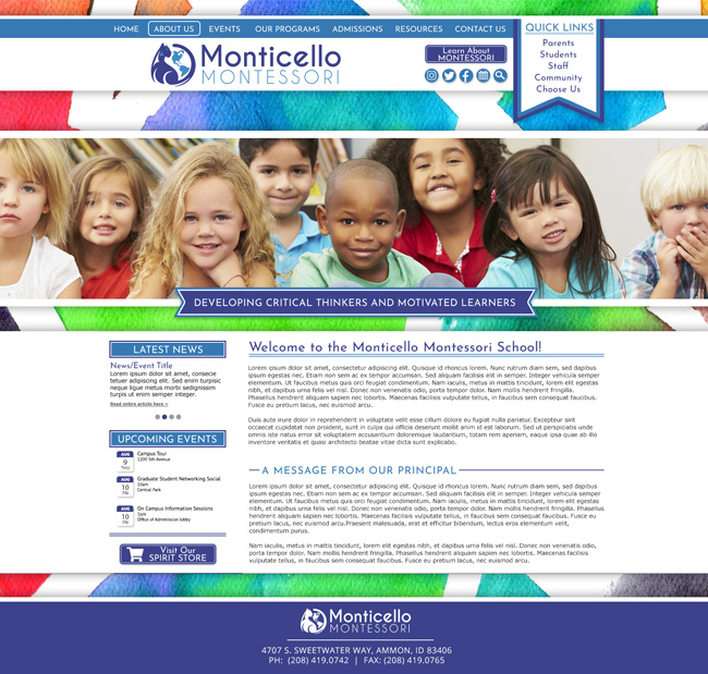 Montessori School Template: Monticello Montessori