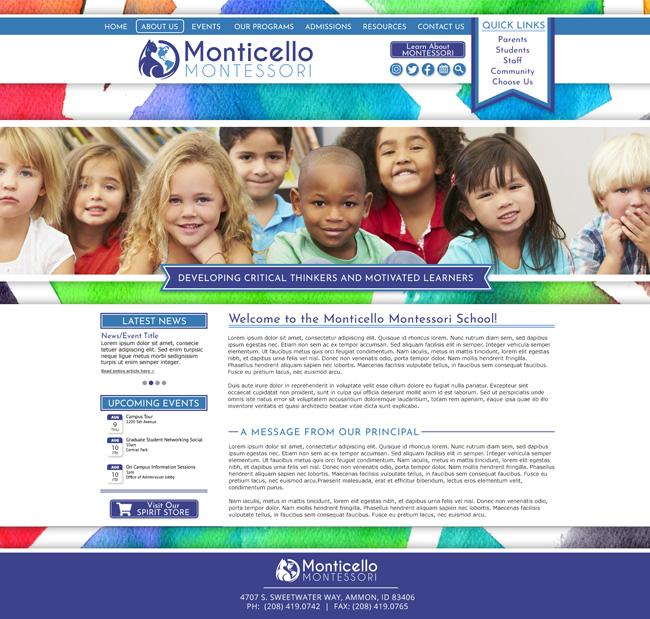 Montessori School Template: Monticello Montessori