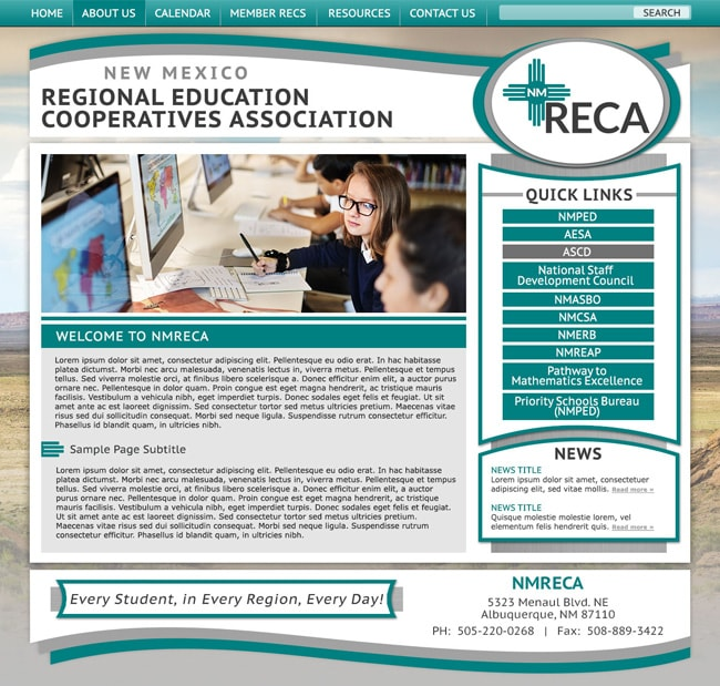 Get a customized responsive school website template