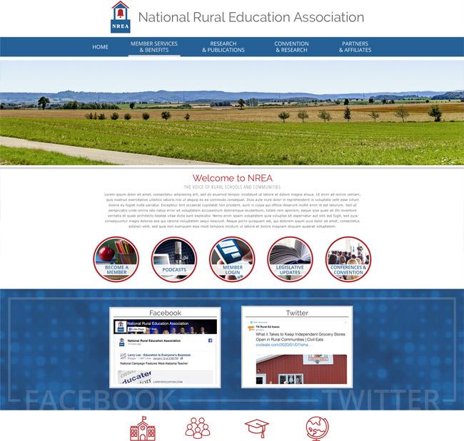 Customized Education Association Website NREA