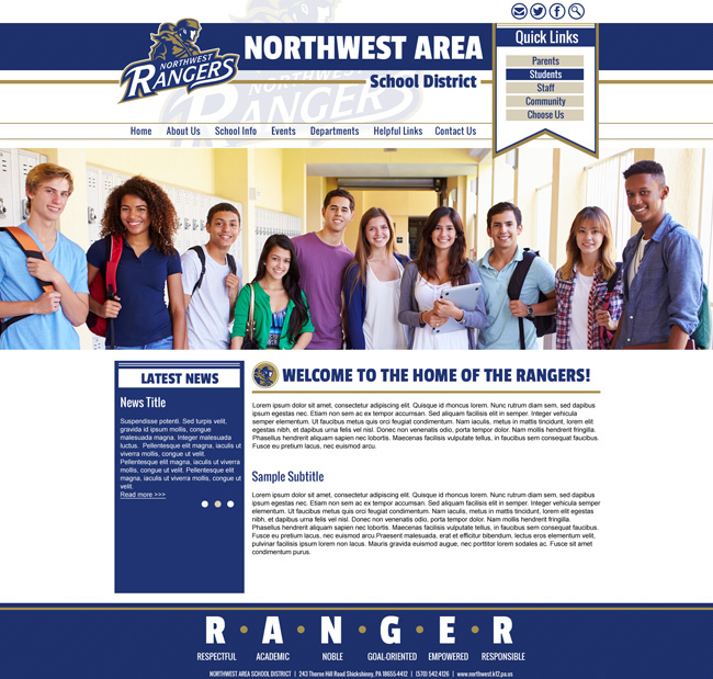 Public School Template: Northwest Area School District