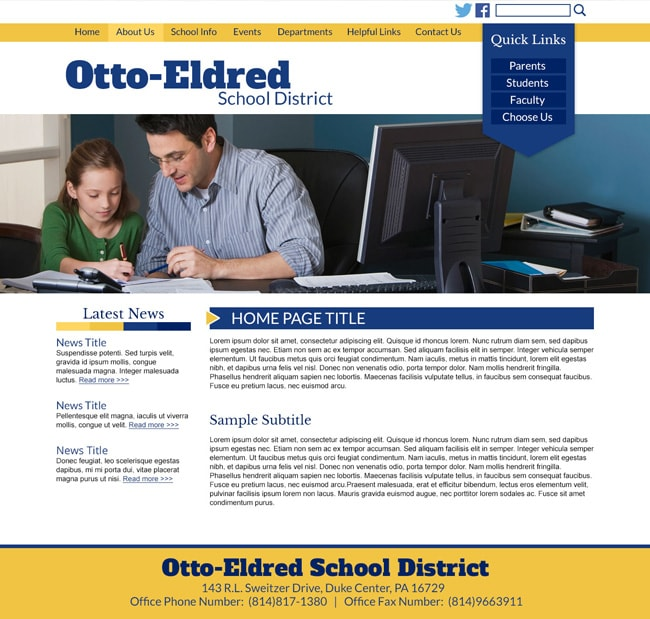 School District Website: Otto Eldred School District