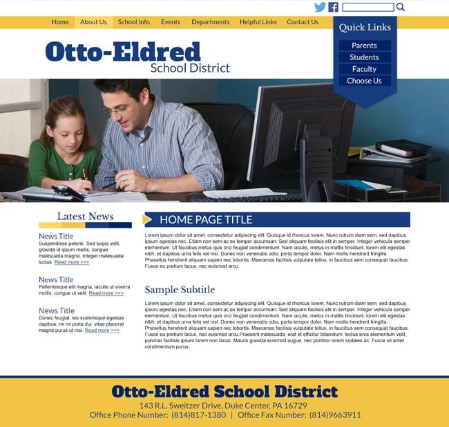 School District Website: Otto Eldred School District