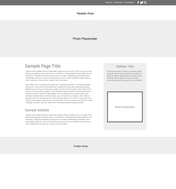 Custom Template School Websites Pecan Subpage