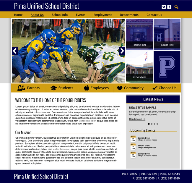 District Template Website: Pima USD