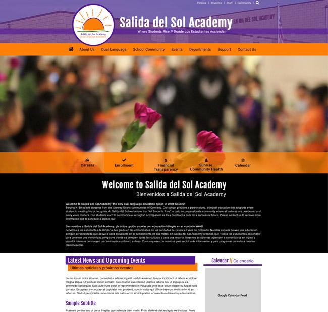 Example of Salida Del Sol Academy
