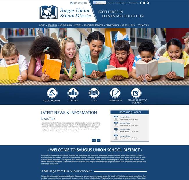 Customized District Website Saugus USD