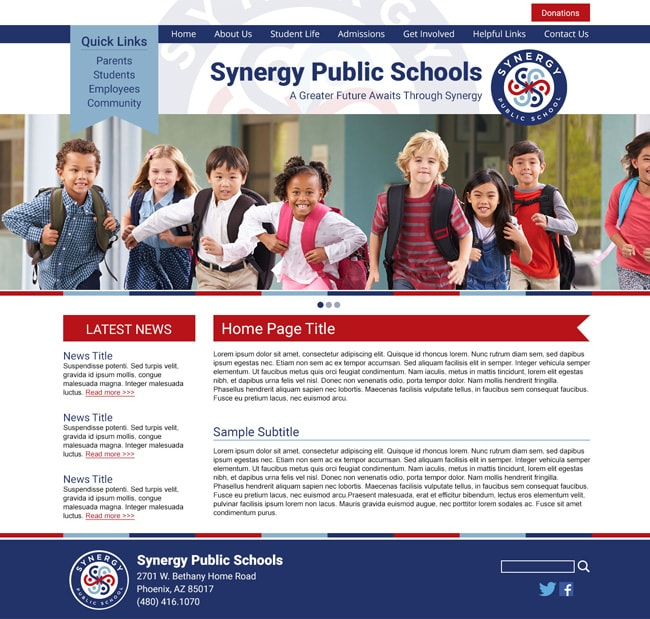 Public School Template: Synergy Public Schools