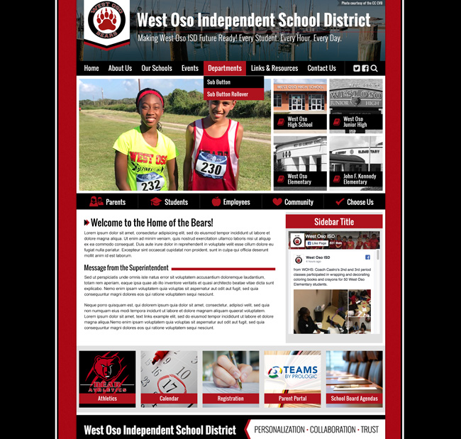 Website for Districts: West Oso School District