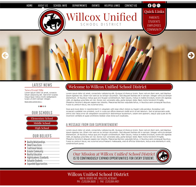 Unified School District Template: Wilcox Unified School District
