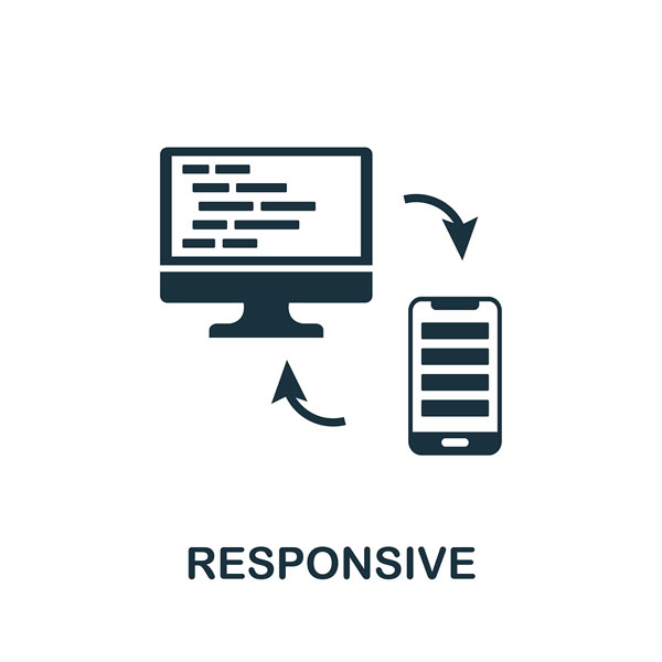 responsive website or mobile-friendly wireframe