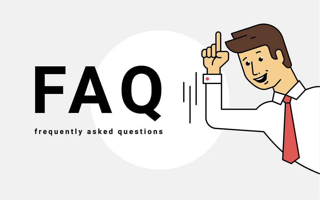 Man smiling -FAQ Frequently Asked Questions