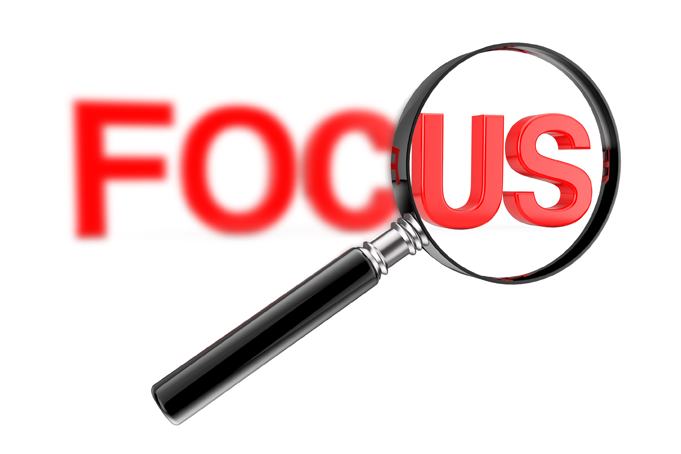 magnifying glass to help site visitors focus