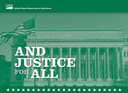 USDA - And Justice For All - non discrimination policy, including spanish