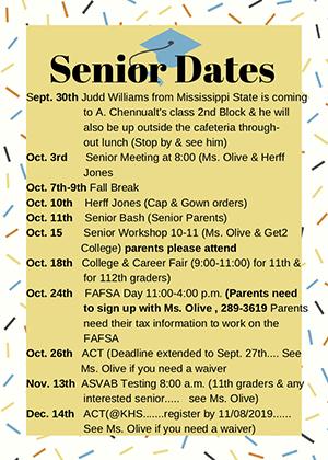 Senior Dates Flyer