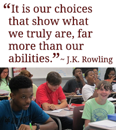 It is our choices that show what we truly are, far more than our abilities. J.K. Rowling.