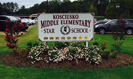 KME School Sign