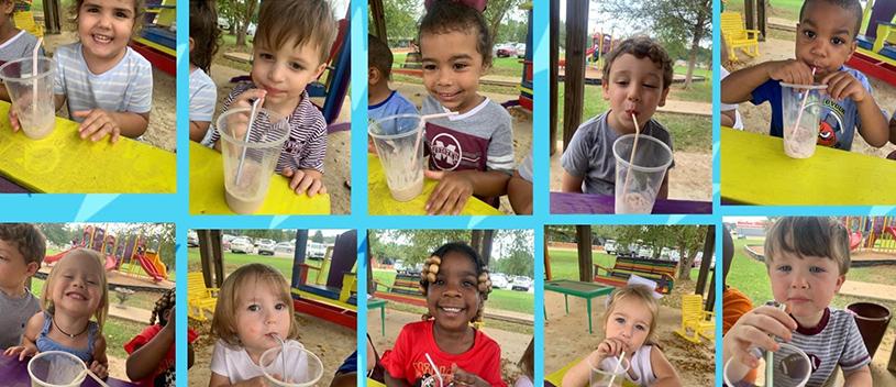 Class enjoying yummy milkshakes on National Milkshake Day!