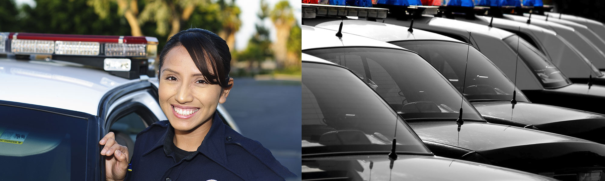 Female police officer and police cars - New for 2021- 2022