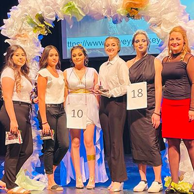 Greek Goddess winners on stage