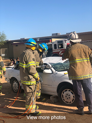 View more photos of the firefighter mock rescue