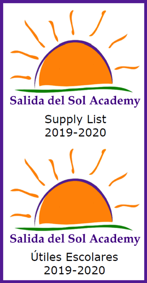 2019-2020 Supply Lists - Utiles Escolares 2019-2020