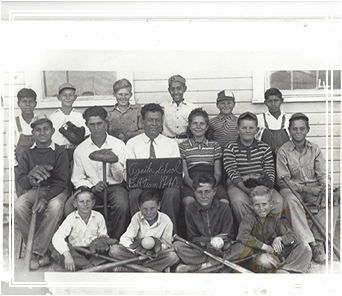 Historical photo of staff and students
