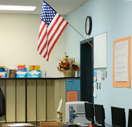 Flag in Classroom