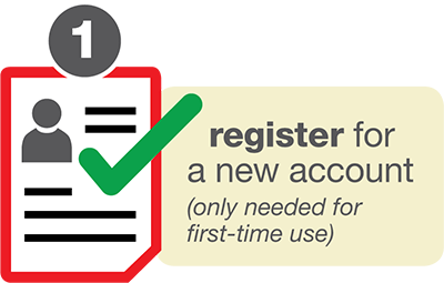 Register for a new account - only needed for first time use