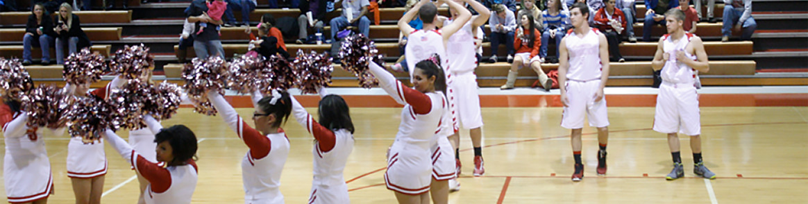 Cheerleaders and Basketball Players