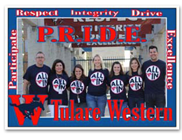 Tulare Western P.R.I.D.E - Participate, Respect, Integrity, Drive, Excellence