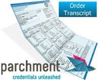order transcript from Parchment