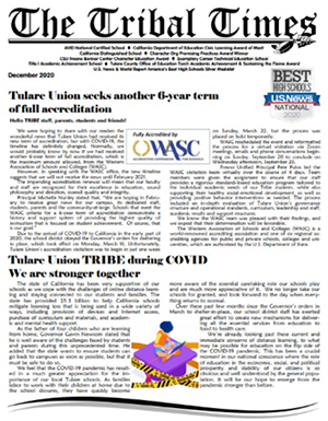 Fall Edition of The Tribal Times