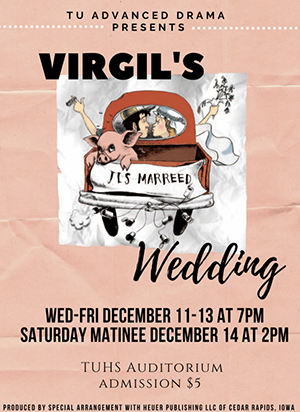 Virgil's Wedding flyer