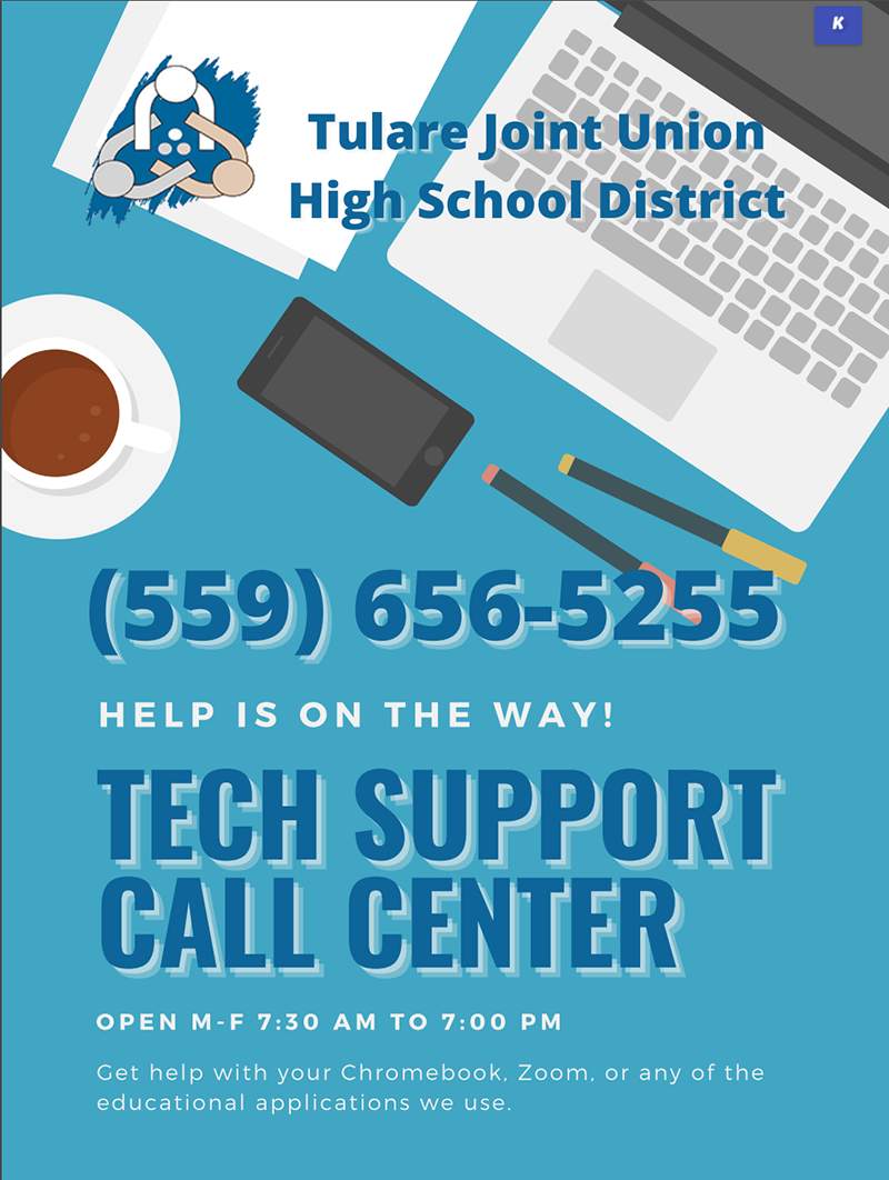 Help is on the way!  Tech support call center (559) 656-5255 open Monday through Friday from 7:30 a.m. until 7:00 p.m