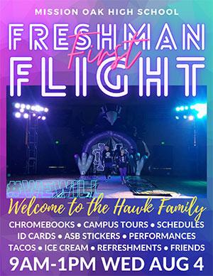 Freshman First Flight flyer front