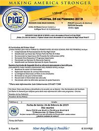 Parent Institute for Quality Education viene martes, 26 de febrero 2019