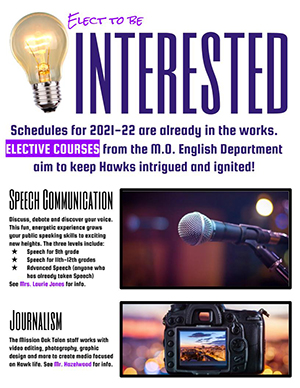 2021-2022 Elective Course Flyer - page 1