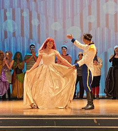 Students performing The Little Mermaid