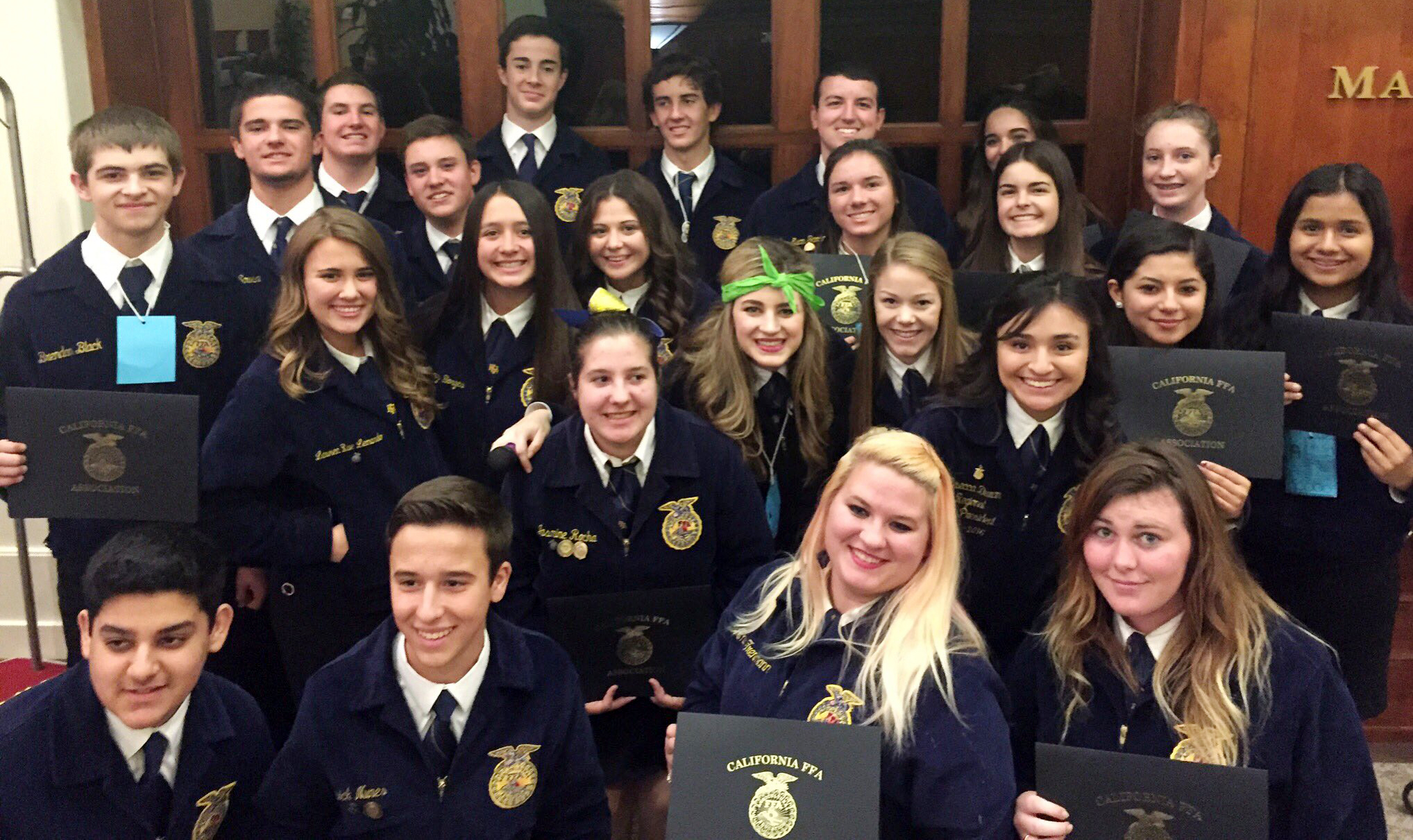 Tulare FFA Students