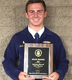 Tulare FFA Student with Plaque