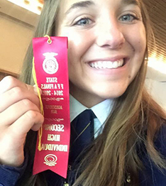 Tulare FFA Student with Ribbon