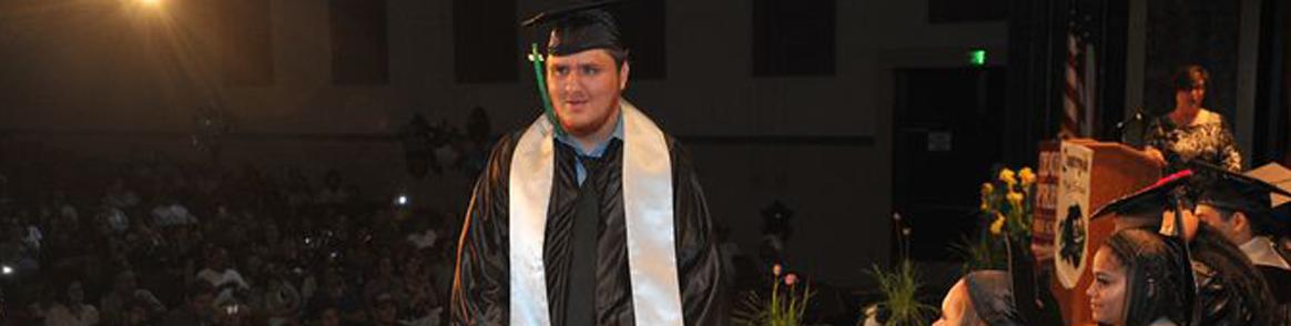 boy graduating