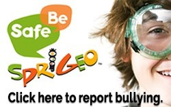 Be Safe. Sprigeo. Report bullying.